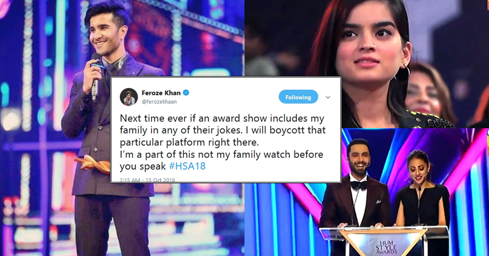 Feroze Khan gets angry at Hum Style award for Making Joke on